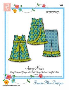 Girls Dress Pattern Bonnie Blue Designs Avery by MakingStuffUP