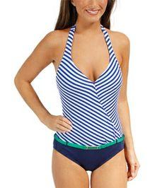 bd08d65d11eab1 Jag Bel-Air Stripe Halter One Piece Halter One Piece Swimsuit, Bel Air,
