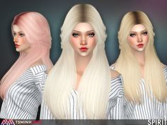 - New meshes  Found in TSR Category 'Sims 4 Female Hairstyles'