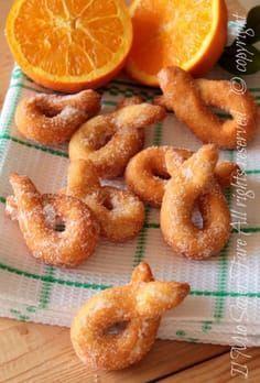 Zeppole ricotta and orange recipe without leavening My know-how - Best Italian Recipes, Italian Desserts, Favorite Recipes, Italian Cake, Bakery Recipes, Sweets Recipes, Cooking Recipes, Zeppole Recipe, Italian Cookies