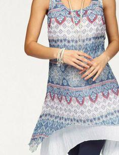 sheego Tunika Longtunika Shirt Bluse Damen Langarm Viskose Lagenlook Plusgröße
