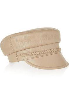 Cellarius textured-leather hat #accessories #covetme #gucci