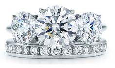Tiffany Round Brilliant Three Stone Ring- I am obsessed
