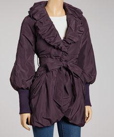 Look what I found on #zulily! Ryu Purple Ruffled Jacket by Ryu #zulilyfinds