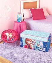 Disney Frozen Bedroom Collection Collapsible Storage Trunk Toy Box Chest