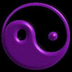 Yin and Yan Purple Love, All Things Purple, Periwinkle Blue, Purple Lilac, Shades Of Purple, Purple And Black, Purple Stuff, Feng Shui, Purple Crayon