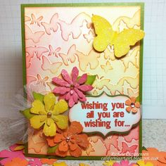 love this card by rochelle using tim's butterfly texture