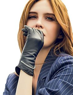 Woman Lady Female Leather Gloves Gloved Villainess