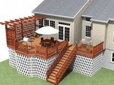 deck privacy. I like the overall design (pergola on end with privacy screen), but HATE lattice as a privacy screen!