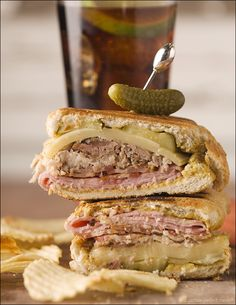 Cuban sandwich with bacon-Substitute pork for leftover turkey to make a fabulous next day meal!