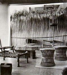 Pierre Jeanneret's House  Veranda. 1955