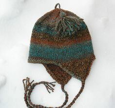 Free Knitting Patterns for Earflap Hats | Earflap hat patterns to knit and crochet with pictures - Providence ...