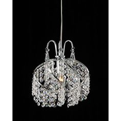 Warehouse of Tiffany 1 Light Crystal Chandelier