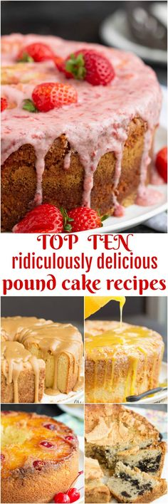 Top Ten Most Popular Ridiculously Delicious Pound Cake Recipes! My Top Ten Most Popular Pound Cake Recipes … Desserts To Make, Köstliche Desserts, Dessert Recipes, Plated Desserts, Drink Recipes, Budget Desserts, Snacks Recipes, Dessert Simple, Southern Desserts
