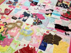 First Year Quilts | made from baby clothes from their first year. Adorable!