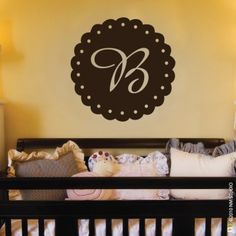 CLING | Eyelet Initial | wall art, vinyl wall decals