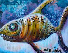 Shark BaitOriginal Acrylic painting on by ErikaJohnsonGallery, $65.00