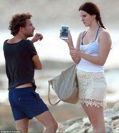 Lana Del Rey & Francesco at the beach in St. Barts