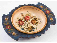 Two-Handled Bowl with Os Rosemaling by Naoko Seto