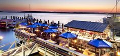 Seafood Restaurant   Hudsons   Hilton Head Island, South Carolina - Used to be a favorite then was disappointed but we've been back and enjoyed it again - new small outside bar and redecorated inside.