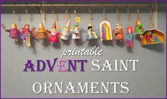 Advent Saints Craft- Printable Ornaments For Catholic Kids