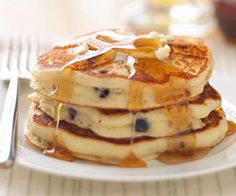 Buttermilk Pancakes Kids love pancakes for breakfast, and this buttermilk recipe is delicious. Try adding your child's favorite fruit to the batter just for fun.