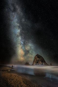 """ Milky Way on Cannon Beach, Steve Hallmark """