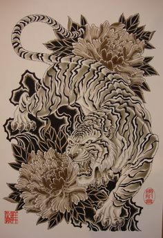 Japanese tattoo tiger: