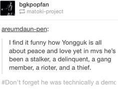 Oh the irony #yongguk #kpop #bap