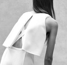 Chic Minimalist Style - white split back top; minimal fashion // Narciso Rodriguez Resort 2016