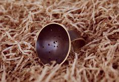Sagittarius constellation ring made of oxidized brass