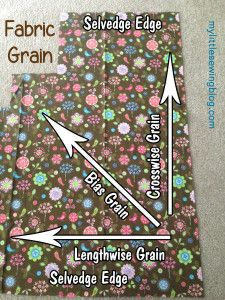 Fabric Grain & Selvedge Edges My Little Sewing Blog