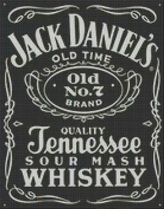 Jack Daniel's Beaded Cross Stitch, Crochet Cross, Cross Stitch Patterns, C2c Crochet, Jack Daniels, Plastic Canvas Crafts, Plastic Canvas Patterns, Clip Art Pictures, Perler Patterns
