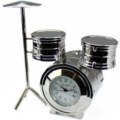 Engraved Mini Drum Kit Clock  from Personalised Gifts Shop - ONLY £27.99