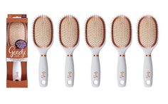 Brushes and Combs: 6-Goody Clean Radiance Oval Hair Brush With Copper Bristles And Hanging Hole New BUY IT NOW ONLY: $34.0