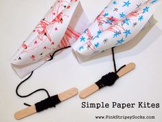Pink Stripey Socks: Make a simple paper kite