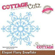 Die - Elites - Elegant Flurry Snowflake - 9,1 x 8,1 cm