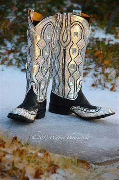Paradise swarovski bling cowgirl boots
