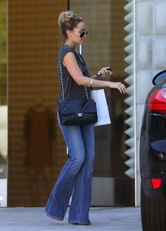TREND WATCH : FLARED JEANS. Thank goodness! Skinny jeans are NOT flattering on…