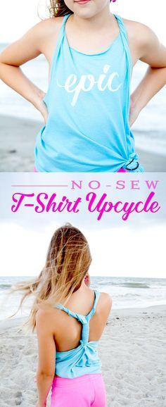 Summer No-Sew T-Shirt Upcycle