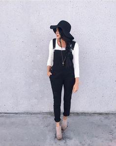 Black overalls