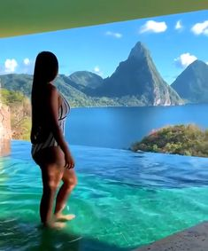 Jade Mountain with infinity edge pool Jade Mountain St Lucia, St Lucia Weddings, St Lucia Honeymoon, St. Lucia, Vacation Mood, Sainte Lucie, Beautiful Places To Travel, Future Travel, Honeymoon Destinations