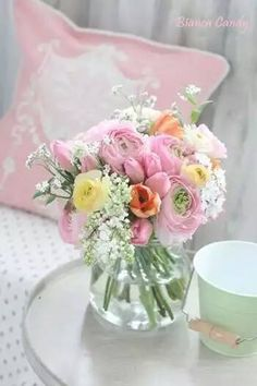 Pink and yellow Flower Arrangement