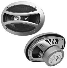 "2) VM Audio EXS690.3 6x9"" 500 Watt 3-Way Full Range Coaxial Car Speakers (Pair). 6x9"" HD Full Range Speakers. 3-Way Coaxial Dynamic Driver Design. Propulsion Drive Flux-Cycle Motor System. Single Point Multi-Radiating Diaphragm Performance. Non-Resonating Motion Control Suspension."