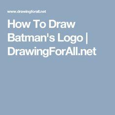 How To Draw Batman's Logo | DrawingForAll.net