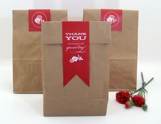 Brown paper bags for wedding favours!