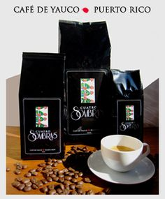 Cuatro Sombras Coffee.  The BEST cup of coffee I've ever had. Grown and roasted in Puerto Rico (go to the coffee shop in Viejo San Juan!)