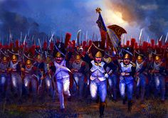 The last charge of Napoleon's Old Guard Grenadiers at Waterloo