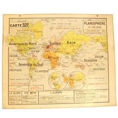 Carte scolaire Planisphère
