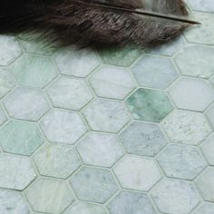 2'' Hexagon Ming Green Marble Mosaic Wall Tile